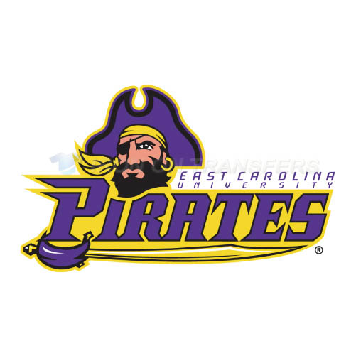 East Carolina Pirates Iron-on Stickers (Heat Transfers)NO.4312